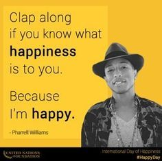 Happy International Day Of Happiness - Pharrell Williams #HappyDay - http://www.awesomeactually.com/2014/03/20/happy-international-day-happiness-pharrell-williams-happyday/