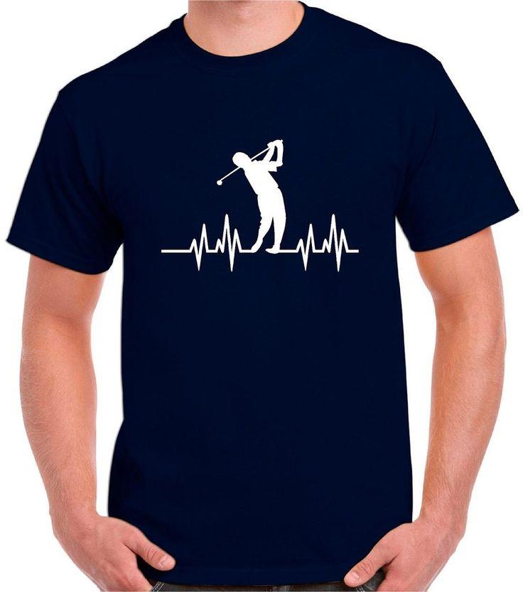 Golf Shirt, Golfing Shirt, Golf Heartbeat, Our T Shirt Shack