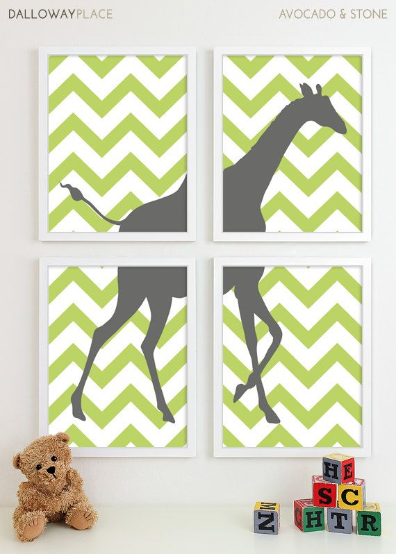 Baby Boy Nursery Art for Boys Room Decor Baby Boy by DallowayKids- Think a Deer or Elk instead of a Giraffe- these can easily be made