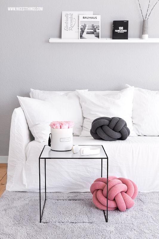 Knotenkissen / Knot Kissen  By Lassen Twin Tisch Neue Wohnzimmer - wohnzimmer deko grau weis