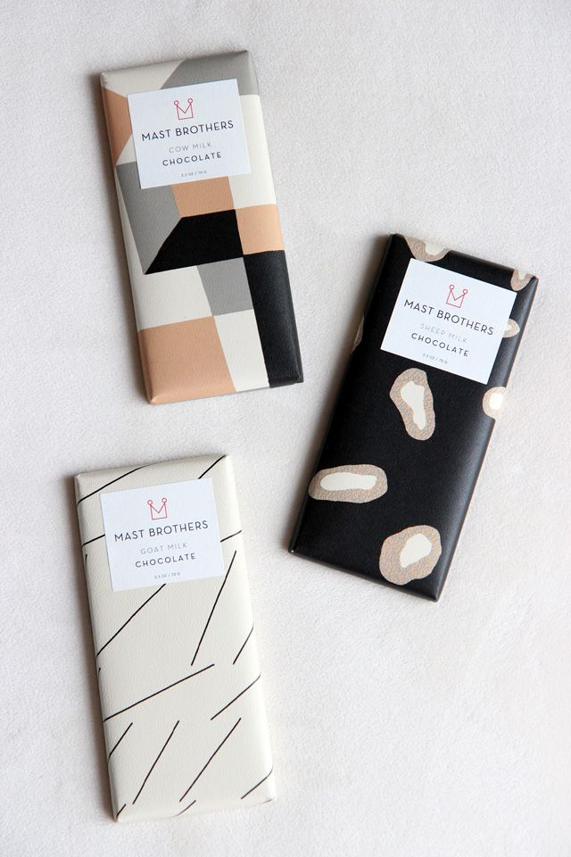 Modern geometric chocolate #packaging design for Mast Brothers Chocolate…