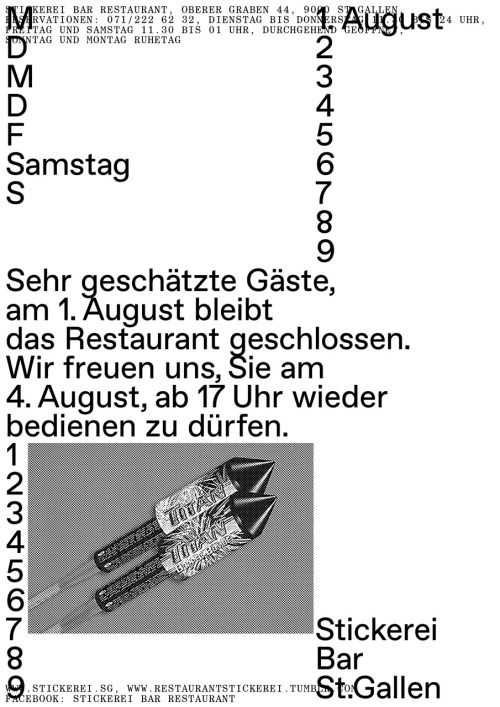 Restaurant Stickerei St. Gallen
