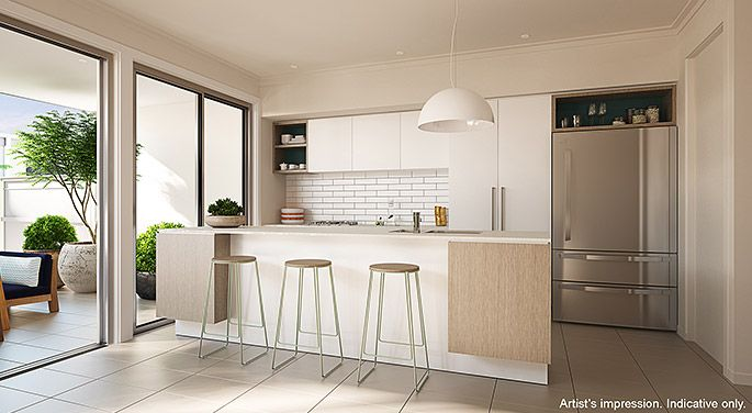 Modern natural and white kitchen.   The coastal location provided the perfect blank page for Arkee Interior Designers to source inspiration and reflect a modern innovative Australian design.   See more Arkee Creative work at www.arkee.com.au we love the blank page.