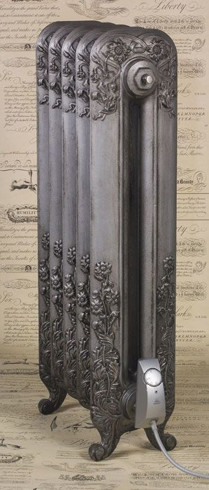 Natural Cast electric-radiator colour on Victoriana 4 column cast iron radiator