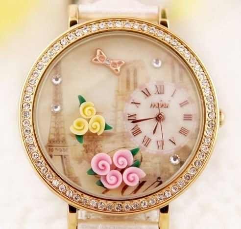 -=- Relógio Feminino Vancaro Vintage Romantic Paris -=-