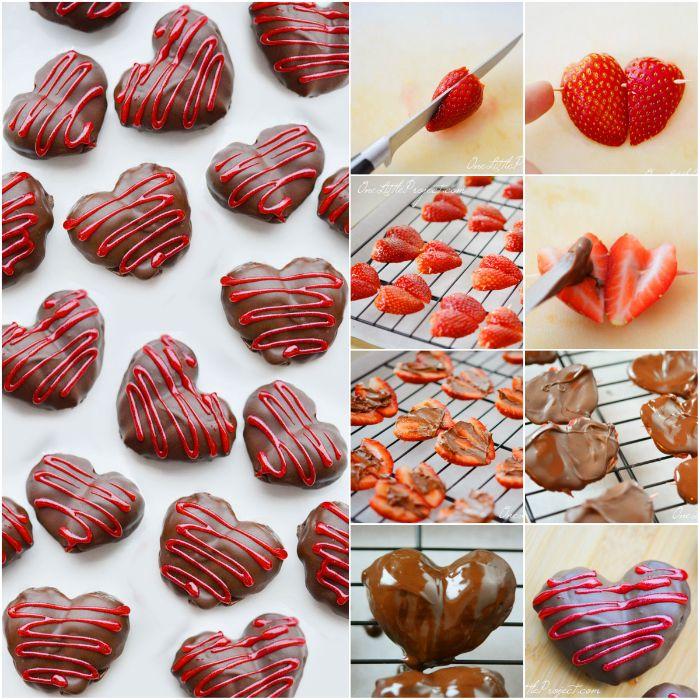 corações de chocolate para dia dos namorados