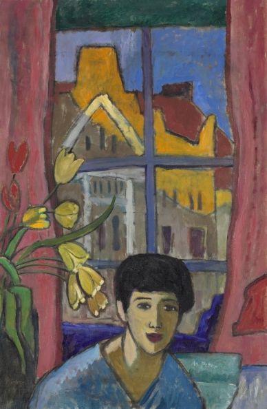 Gabriele Munter. One of the Der Blaue Reiter (The Blue Rider) Expressionist painters.