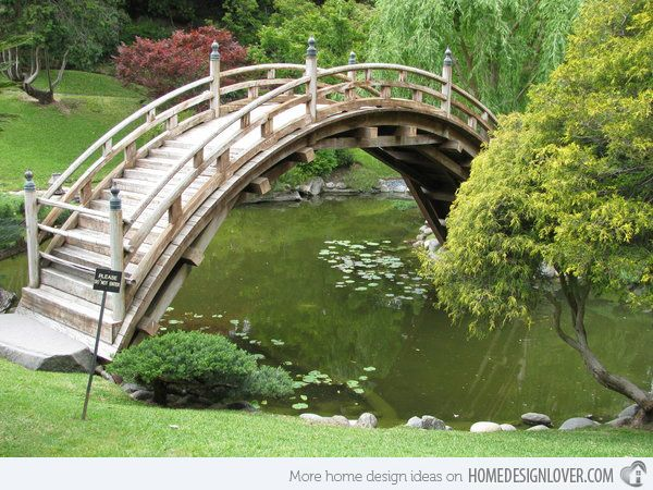 15 japanese inspired garden bridges