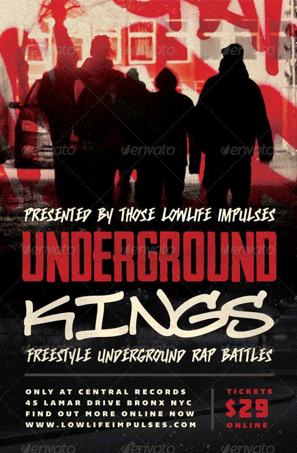 Underground Kings - Hip-Hop Flyer Template by furnace Underground
