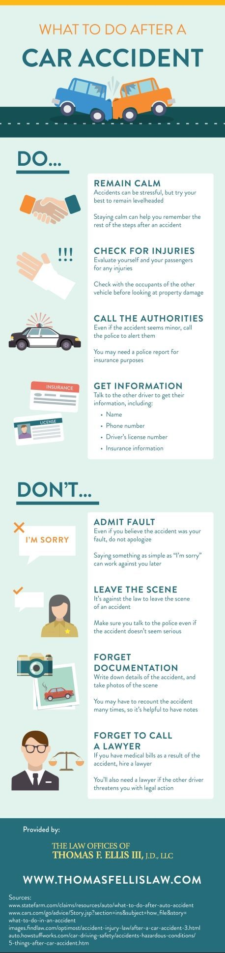 If you're ever in a car accident, here are the steps you should take after it occurs!