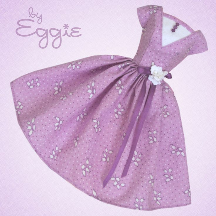 Lilac Spring - Vintage Barbie Doll Dress Reproduction Repro Barbie Clothes