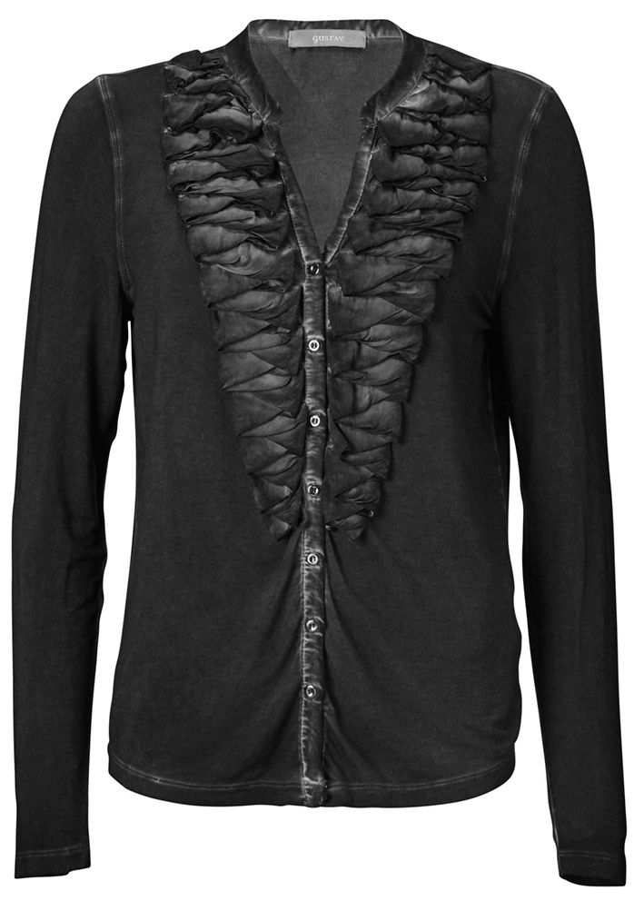 Gustav T-shirt with Frills 16732 black – acorns
