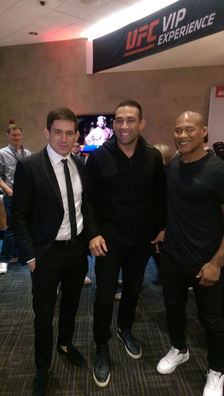 Some Very Scary Dudes at UFC 205! MMA vets and champions : Demian Maia, Fabricio Werdum, and Jacare Souza.  https://www.imzy.com/everything_mma