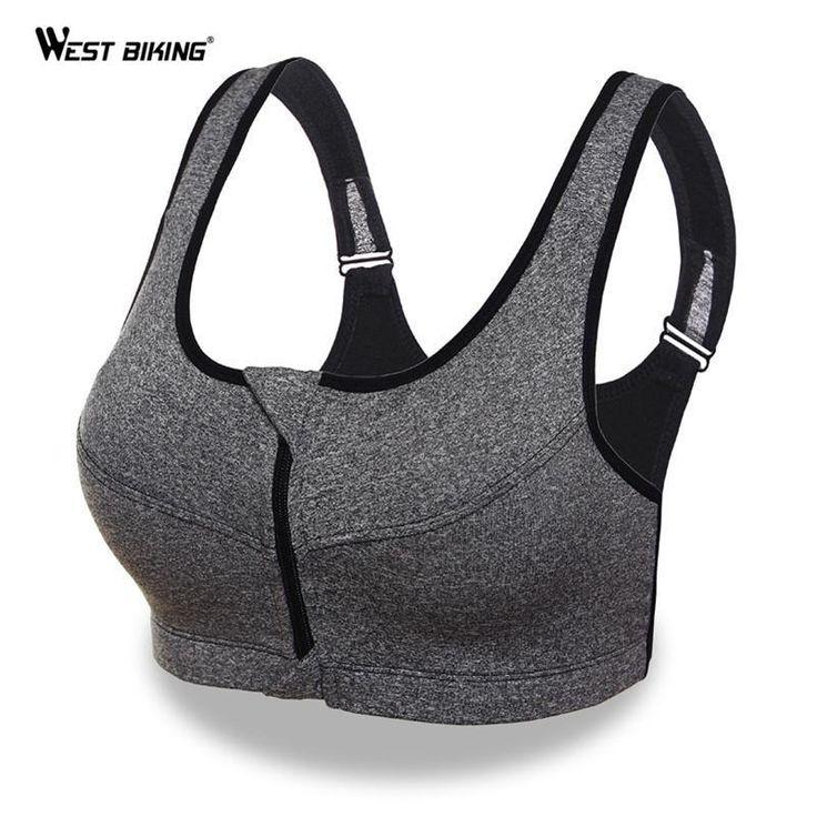 Hot trending item: Women Sport Bra R... Check it out here! http://jagmohansabharwal.myshopify.com/products/women-sport-bra-running-front-zipper-moverment-bra-yoga-padded-fitness-tops-tank-cycling-workout-sport-bra-3-sizes?utm_campaign=social_autopilot&utm_source=pin&utm_medium=pin
