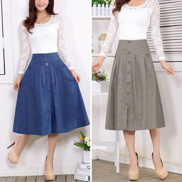 969e9f321 faldas de lino mujer