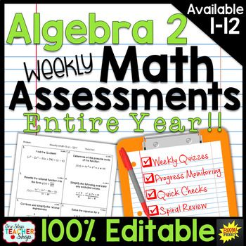 These spiral MATH ASSESSMENTS are perfect for weekly math quizzes, quick checks, progress monitoring, and spiral review.  These math assessments are 100% editable and are perfectly aligned with my TOP-SELLING Math Homework resource. Always know how your students are progressing in math!