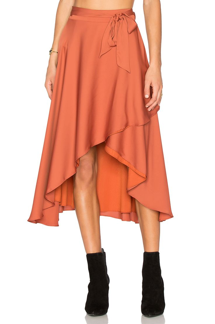 Vivica wrap dress - Shop For House Of Harlow 1960 X Revolve Maya Wrap Skirt In Rust At Revolve