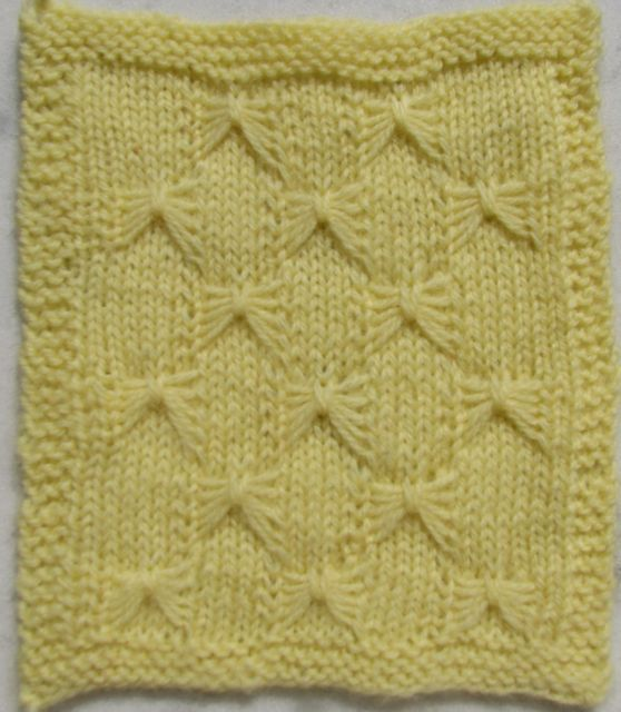how to: knitting butterfly stitch