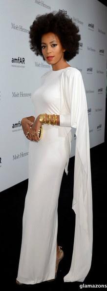 Solange Knowles' Amfar Milano 2012 Gala Rubin Singer White Gown