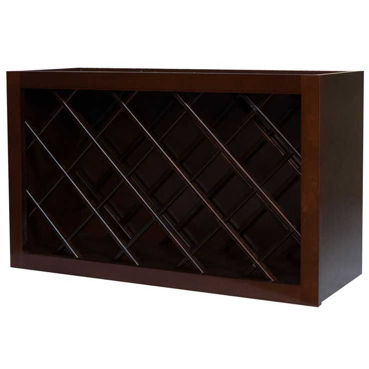 30 Inch Wine Rack Cabinet in Leo Saddle 30""