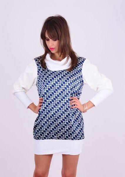Geometric Pattern Tunika/Bluza typu oversize w NAT Fashion Room na DaWanda.com