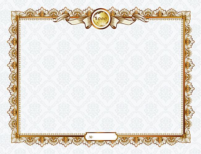 Honor Diploma Background Material Certificate Background Certificate Design Frame Border Design