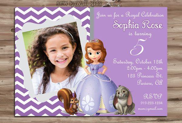 Resultado de imagen de princess sofia invitations