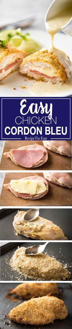 Easy Chicken Cordon Bleu   Love this shortcut version - so easy and quick! Everyone DEVOURED it! www.recipetineats.com