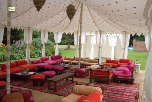 Love these luxurious marquees by @Raj Tent Club. Perfect for a chill-out room at your wedding, don't you think?