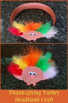 A fun Thanksgiving turkey headband craft for toddlers! blog.rightstart.com!