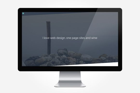 Pure - One Page Personal Portfolio by VSThemes on @creativemarket