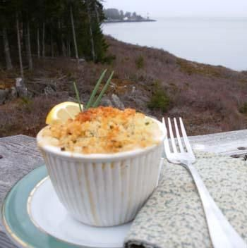 A wonderfully rich #Maine #Lobster Scallop #recipe for a cozy dinner. If you want even more Maine Lobster recipes and information visit mainelobsterinsider.com