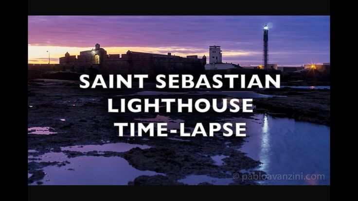 Saint Sebastian Lighthouse Cadiz Spain Time-Lapse 4K Royalty Free Footage