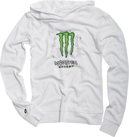 Hoodie Thermal Girls Hype White Monster Energy