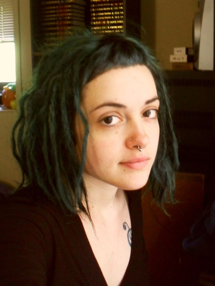 dreadlocks + micro bangs