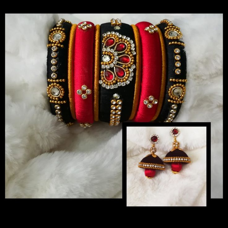 ManthRa Carnival - silkthread bangles and jumkha