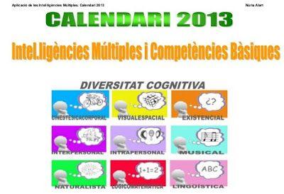 La CASETA, un lloc especial: Calendari 2013 sobre Intel·ligències múltiples i Competències Bàsique