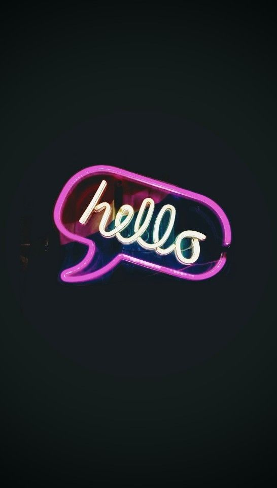 Cute Pizza Wallpaper Hello Hello Sign Neon Neonsign Neonlight Light