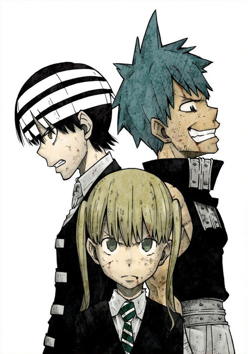 Soul Eater Meisters - Maka, Death the Kid, and Black*Star