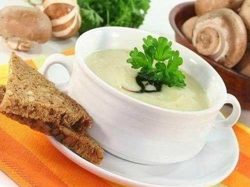 Сырный картофельный суп с шампиньонами