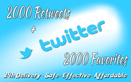 FAST 2000+ retweets and 2000+ favorites for Twitter tweet