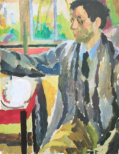 Duncan Grant painting c.1920 by Vanessa Bell (née Stephen; 30 May 1879 – 7 April 1961) was an English painter and interior designer, a member of the Bloomsbury group, and the sister of Virginia Woolf.