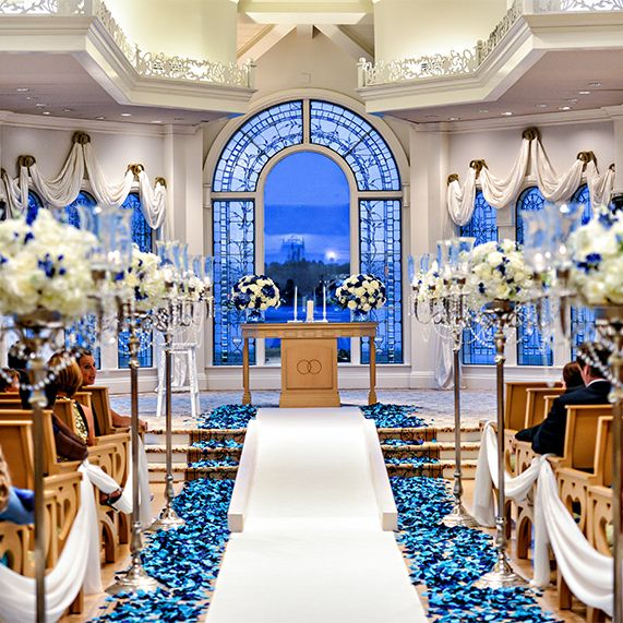 Blue Wedding Pavilion Walt Disney World