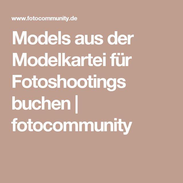 Models aus der Modelkartei für Fotoshootings buchen | fotocommunity