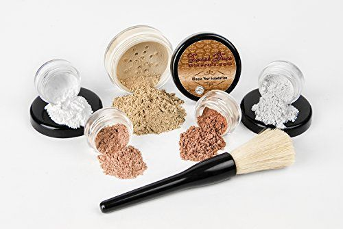 6 pc. STARTER KIT Mineral Makeup Set Bare Skin Matte Foundation Cover (Warm Neutral-most popular) - http://essential-organic.com/6-pc-starter-kit-mineral-makeup-set-bare-skin-matte-foundation-cover-warm-neutral-most-popular/