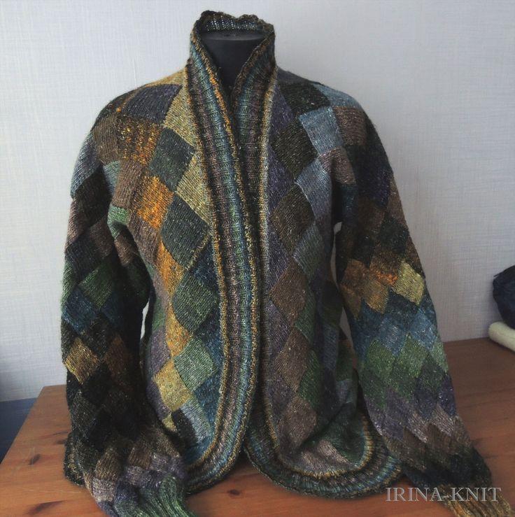 Купить Кардиган Питер вязаный из Норо - черный, коричневый, зеленый, синий, оранжевый, кардиган