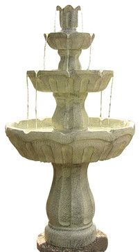 Fluted 3-Tier Fountain contemporary outdoor fountains