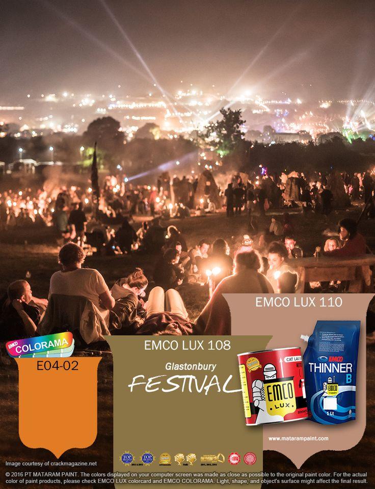 Kawan EMCO, festival musik selalu menghadirkan kegembiraan siapa saja yang menikmatinya. Kalau Anda suka dengan gebyar musik, tuangkan ide karya–karya Anda  yang terinspirasi dari festival ini dengan memakai cat pilihan warna EMCO LUX 108, EMCO LUX 110 dan E04-02 palet emco. Untuk artikel menarik lainnya cek saja di http://matarampaint.com/news.php. Jadikan yang biasa menjadi luar biasa bersama cat EMCO.