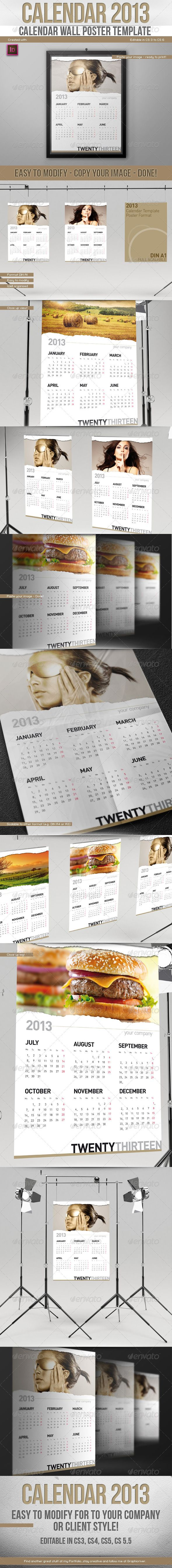 Calendar wall, Poster templates and Wall posters on Pinterest