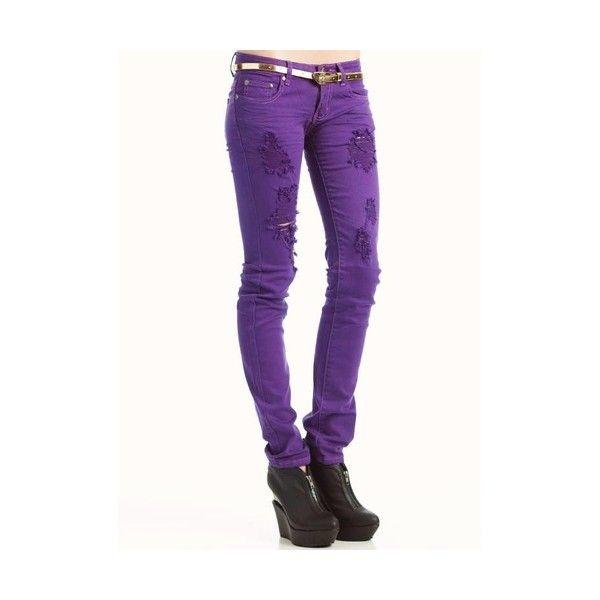 25  best ideas about Purple skinny jeans on Pinterest   Purple ...